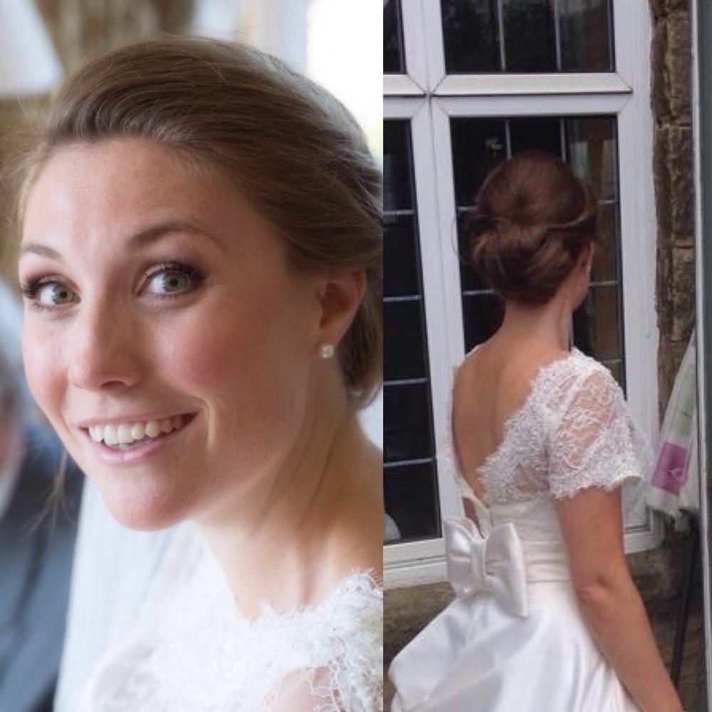 Natural and flawless bridal make up and hair. - Make Me Bridal Artist: Lucy Elliot hair and make up artist. Photography by: n/a. #classic #naturalmakeup #bridalmakeup #glow #bridalhair #hairup #updo #roselip #brunette #classy #individuallashes #classicmakeup #englishrose #sleekbun #greeneyes