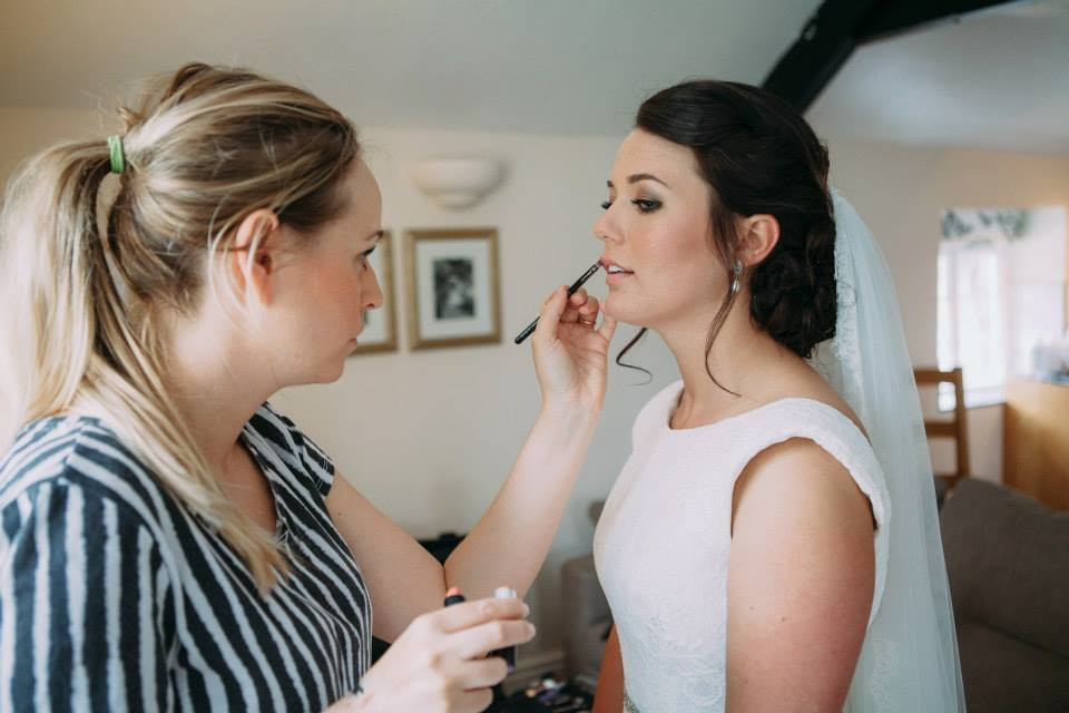 This bride wanted to keep her base fresh and natural but with a smokey bronze eye which we created. - Make Me Bridal Artist: Lucy Elliot hair and make up artist. Photography by: n/a. #classic #bridalmakeup #pretty #smokeyeyes #flawless #glamourous #glambride #peachlip #individuallashes #glowingskin #bronzedeyes