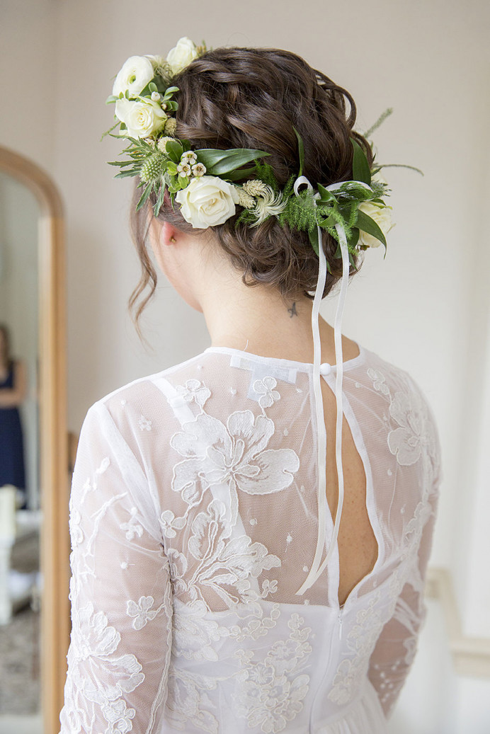 Wedding at Nonsuch Mansion. Hair by Hair That Turns Heads - Make Me Bridal Artist: Hair That Turns Heads. Photography by: Rebecca Love Photography. #bohemian #boho #weddinghair #bohobride #flowercrown #weddingmorning #bridalhair #updo #relaxedupdo #bridalhairstylist #hairstyling #surreyhills #shorthair #shorthairbride #freshflowers #naturalhair #surrey #romantichair #bohoupdo #looseupdo #curlyupdo #shorthairupdo #surreybridalhair