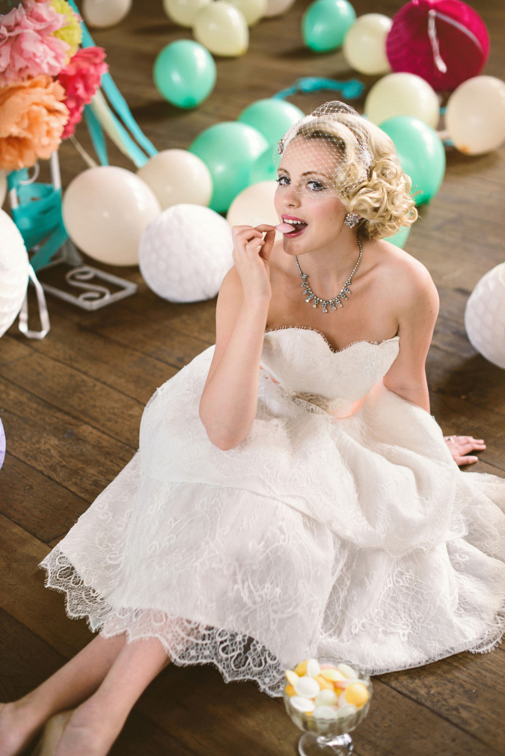 1950's inspired wedding photo shoot. Hair by Hair That Turns Heads. - Make Me Bridal Artist: Hair That Turns Heads. Photography by: Louise Bjorling. #classic #vintage #bridalhair #blonde #photoshoot #editorial #vintagehair #hairupvintage #london #vintagewedding #vintageinspired #vintageglamour #vintageveil #50s #curlyupdo #vintageupdo #vintagelook #vintageweddingdress