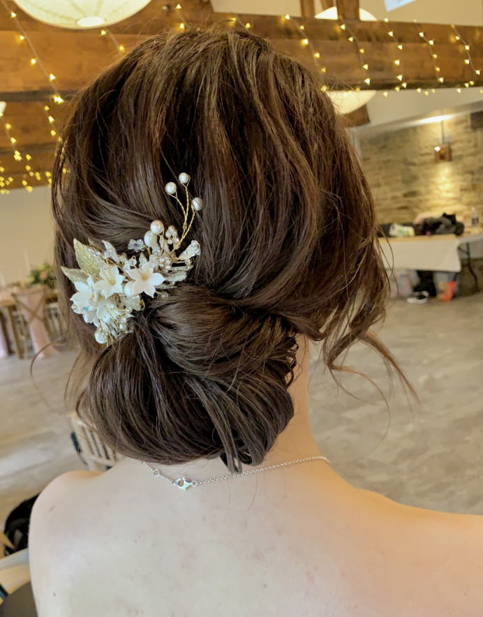 Charlotte wanted a softly textured updo, so that is exactly what I did for her.