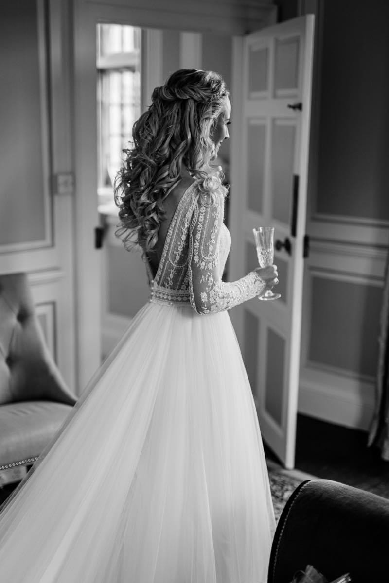 Olivia.  What a beautiful bride!  She chose a gorgeous half updo, with romantic textured twists and cascading waves. And she looked like a princess, don't you agree? - Make Me Bridal Artist: Max It Up Bridal & Special Occasion Hair. Photography by: Chris Smith Photography. #halfuphair #bridalhair #bridalhairstylist #glambride #bridalhairstylist #halfuphalfdown #blondebride #romantichair