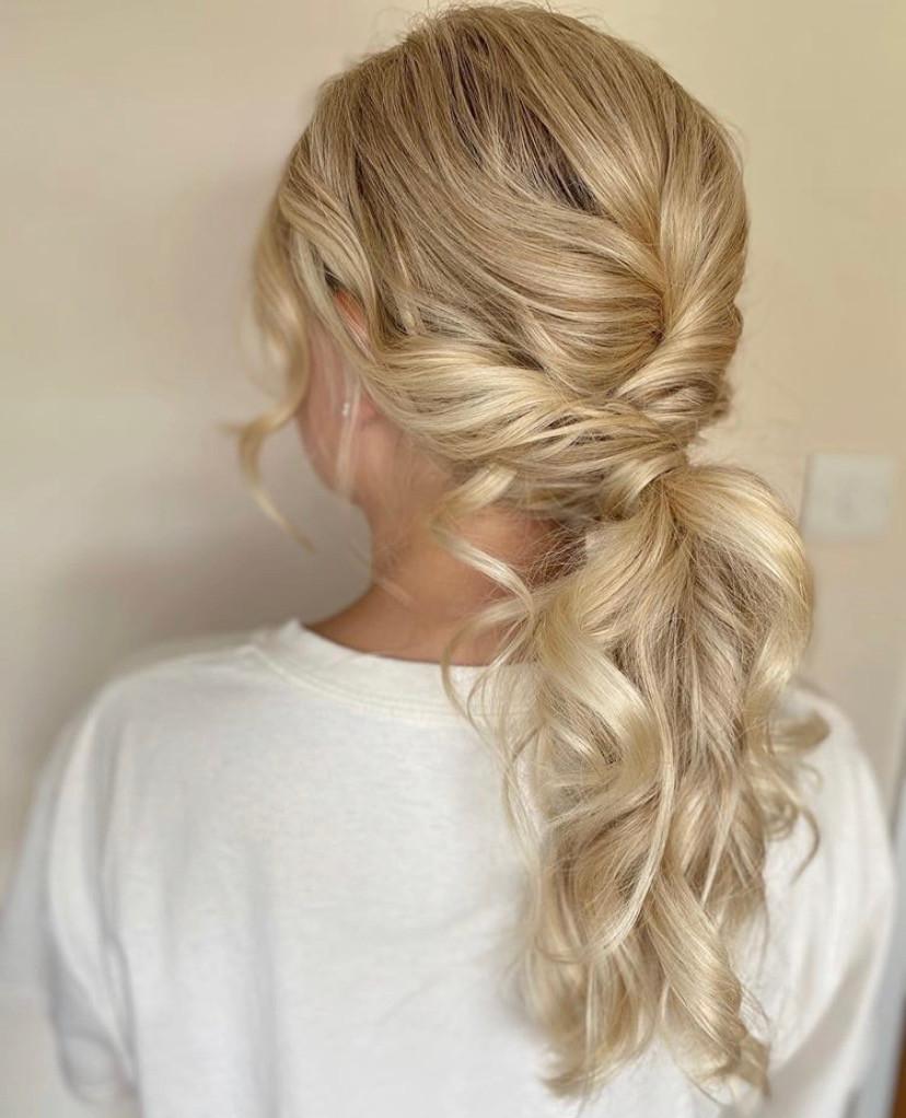 - Make Me Bridal Artist: Zoe Sharman hair and makeup. #ponytail #bohoupdo #bridalpony #bohopony