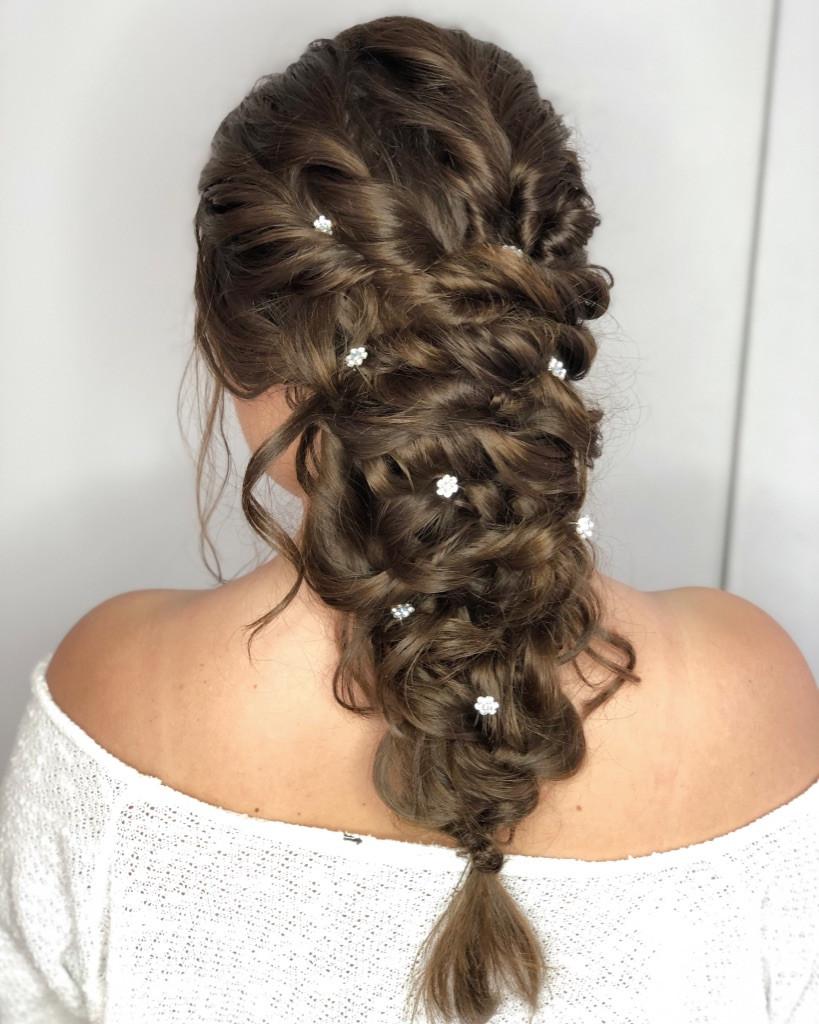 - Make Me Bridal Artist: Zoe Sharman hair and makeup. #braidedupdo #fishtailbraid #bohobride #undoneupdo #plaitupdo