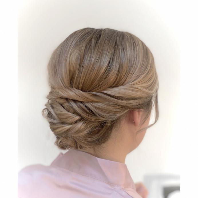 - Make Me Bridal Artist: Zoe Sharman hair and makeup. #lowbun #fullbun #lowupdo #twistedupdo