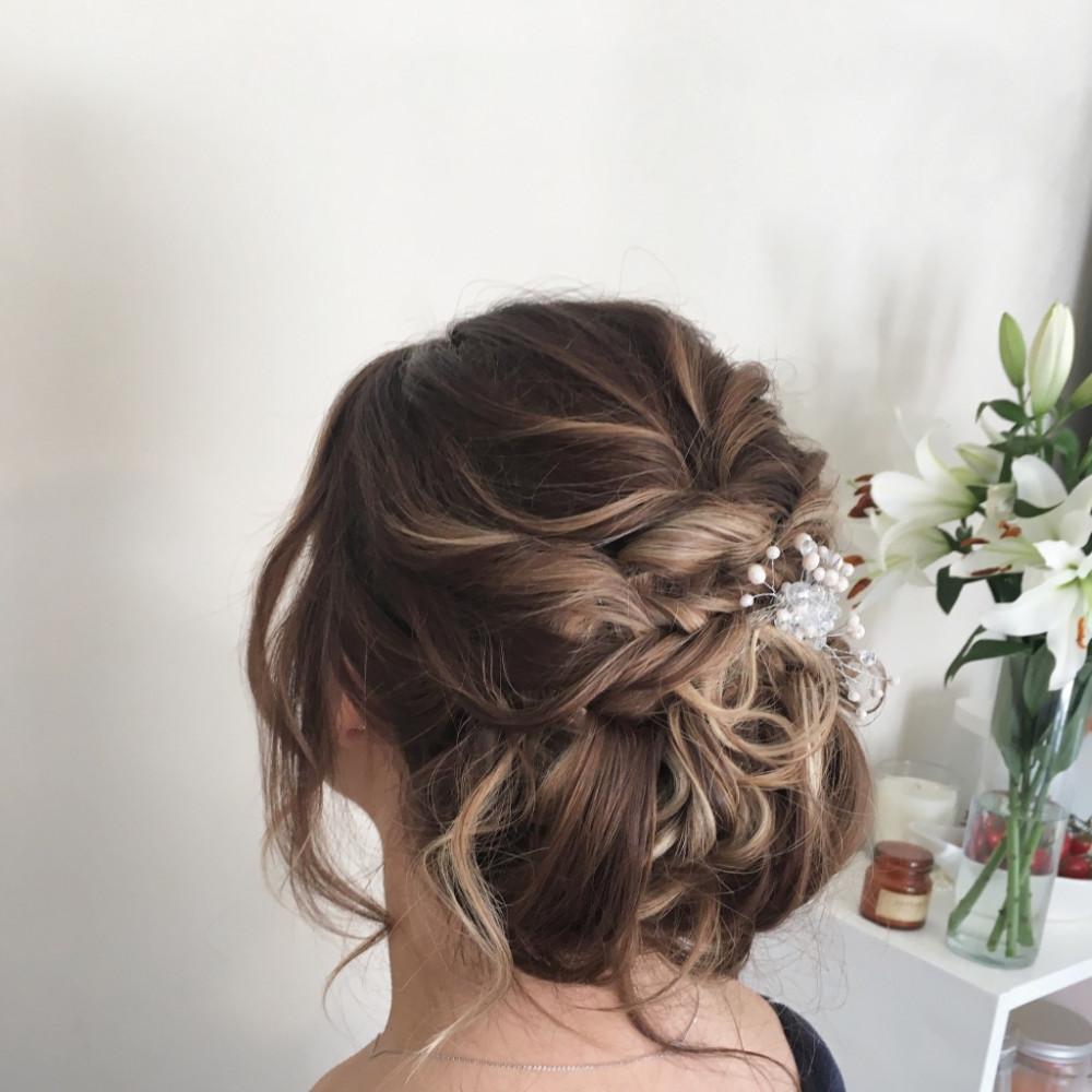 - Make Me Bridal Artist: Zoe Sharman hair and makeup. #bridalhair #chignon #messybun #lowbun