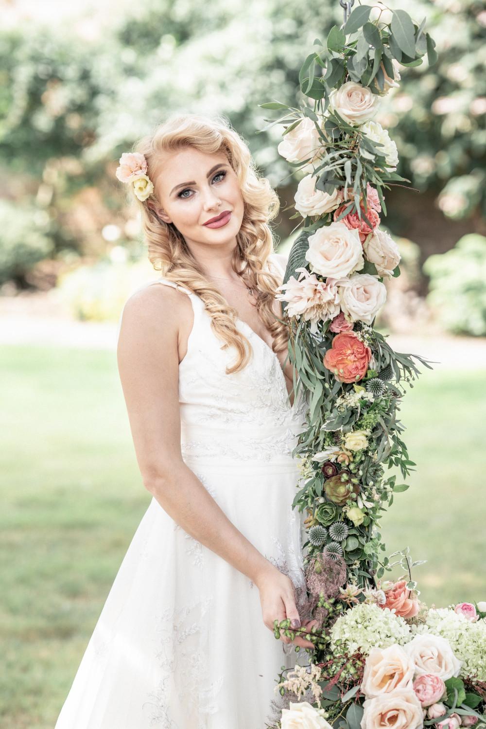 Styled Photoshoot   Inspiration - The Secret Garden - Make Me Bridal Artist: SJM Beauty | Make-up Artist. Photography by: Victoria Amrose Photography. #glamorous #boho #naturalmakeup #bridalmakeup #flowersinherhair #flowers #relaxed