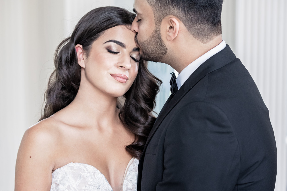 Rosi and Oliver modelling for a bridal photoshoot at Hawkstone Hall and Gardens.  Hair by my team hair stylist Helen Make-up by me - Make Me Bridal Artist: SJM Beauty | Make-up Artist. Photography by: Victoria Amrose Photography. #classic #vintage #glamorous #naturalmakeup #weddingmorning #natural #beautiful #asianbride #beautifulbridalmakeup