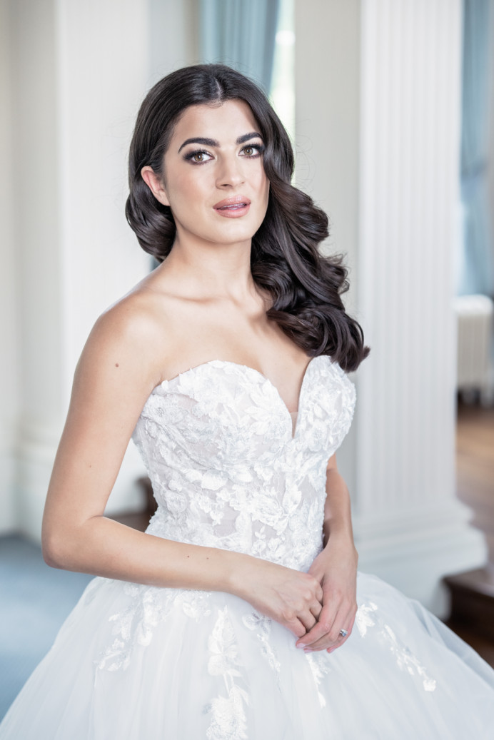 Rosi modelling for a styled shoot at Hawkstone Hall and Gardens