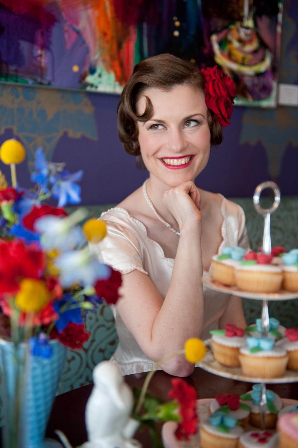 - Make Me Bridal Artist: Carolanne Armstrong Hair and Makeup. Photography by: Anna Rosell. #vintage #bridalmakeup #classic #weddinghairandmakeup #retro #colourful #alternative #popofcolour
