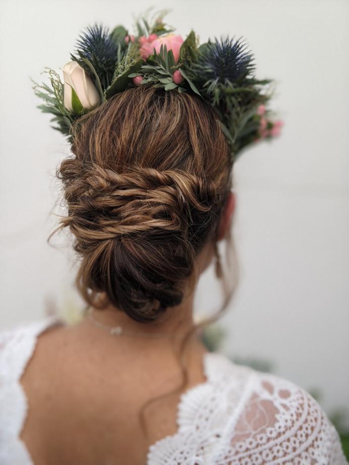 - Make Me Bridal Artist: Petal Blush. #bohemian #boho #flowercrown #twistedupdo #texturedupdo #relaxedupdo #bohoupdo