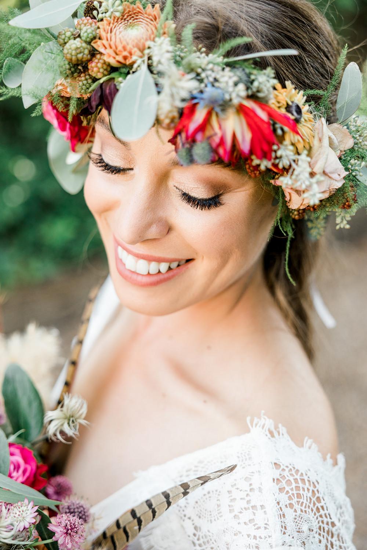 - Make Me Bridal Artist: Petal Blush. Photography by: Kelsie Scully. #naturalmakeup #halfuphair #flawlessmakeup #bohobride