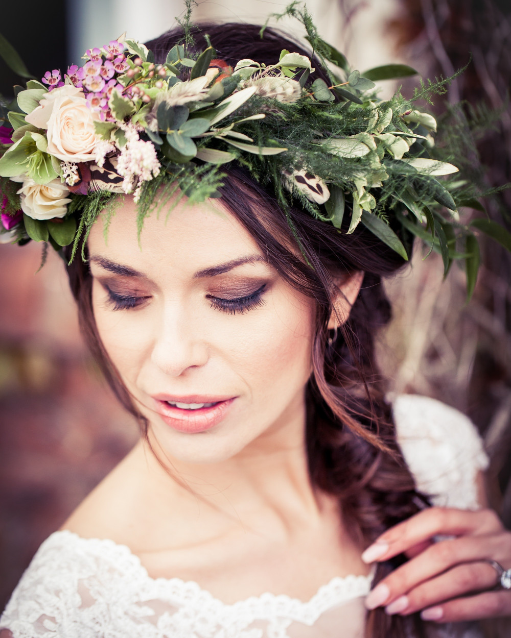 - Make Me Bridal Artist: Alison Martin Hair & Make-up. Photography by: Photography by Kathryn. #bohemian #vintage #boho #flowercrown #bridalmakeup #bridalhair #braid #lowbun