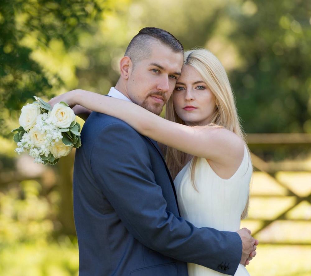 - Make Me Bridal Artist: Nicola Jane - Makeup Artist. Photography by: Irene Neumann. #naturalmakeup #blonde #bridalmakeup #summer #longhair #brideandgroom #airbrush #airbrushmakeup