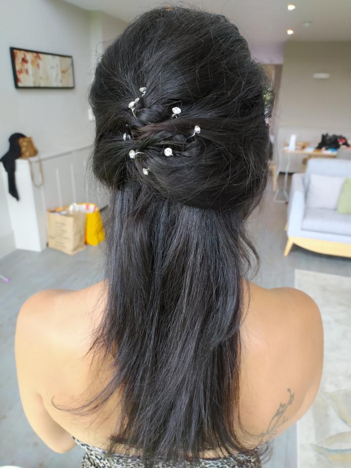 - Make Me Bridal Artist: Carolina Samper. #halfuphair