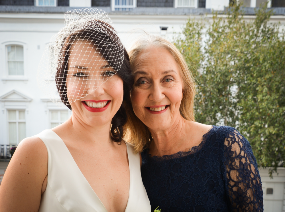 Sarah was super chilled bride. Her vintage dress was just stunning as her and a bit of eyeliner and red lipstick completed the look she desires. - Make Me Bridal Artist: Carolina Samper. #motherofthebride #love