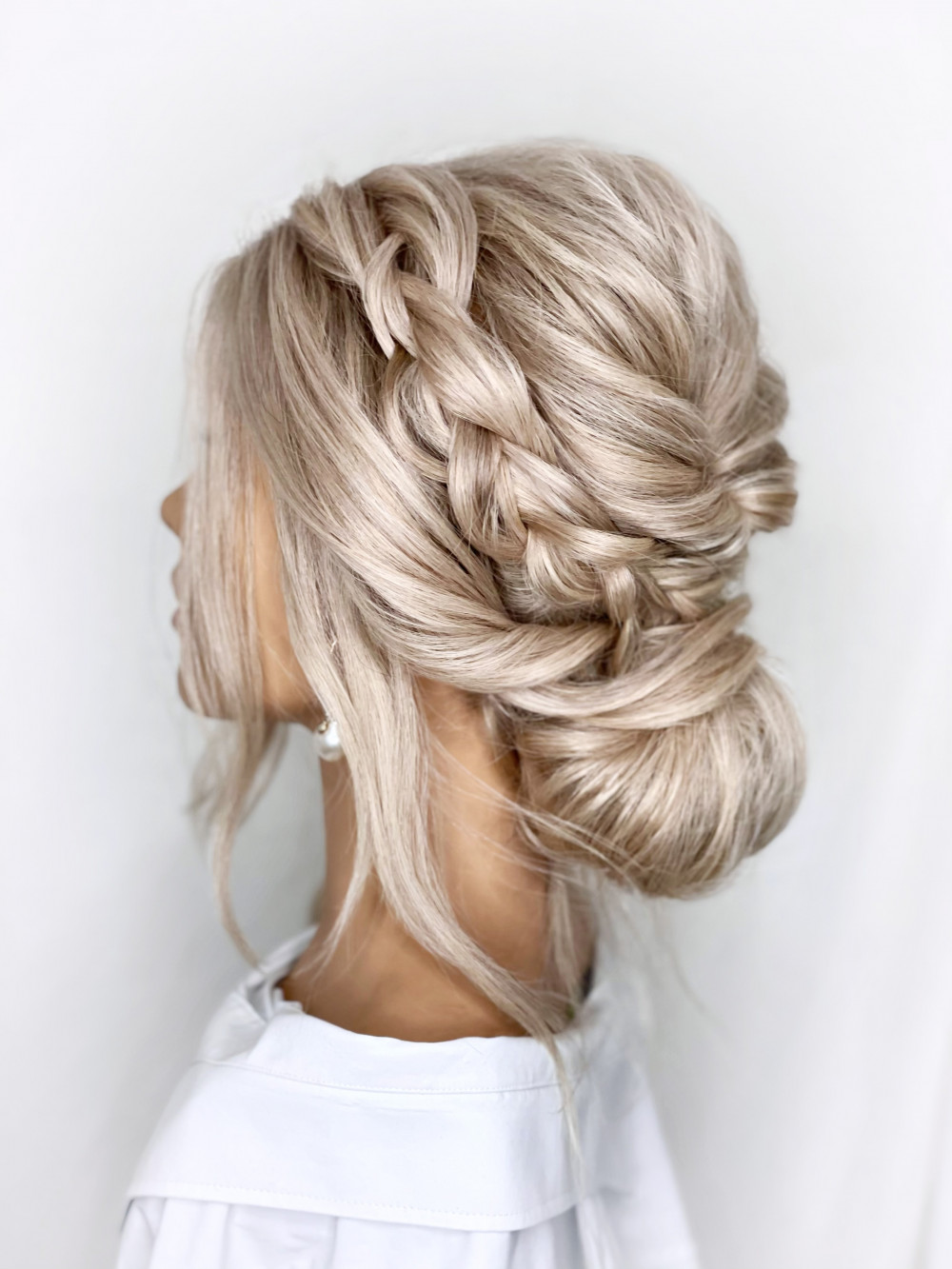 - Make Me Bridal Artist: Parisiumhair. #blonde #lowupdo #bridesmaidhair #braidedupdo #bridesmaid #softupdo #texturedupdo #bohemian #boho