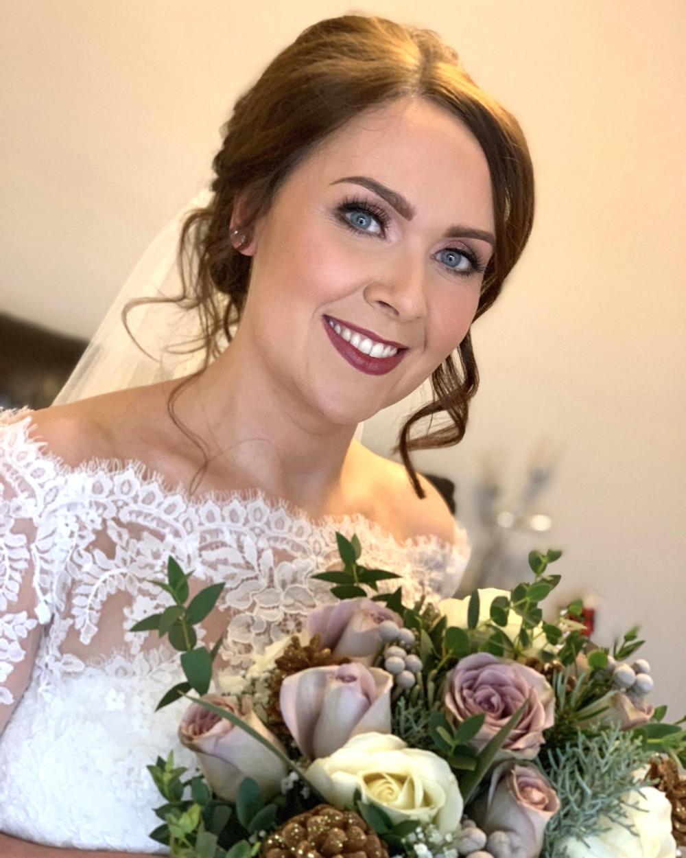 - Make Me Bridal Artist: Katie Malin Makeup Artist. #berrylip #classicmakeup #classichair #darklip