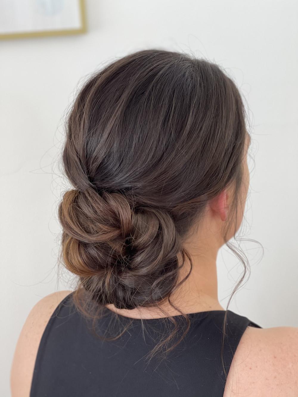 - Make Me Bridal Artist: Holly Louise London. #boho #updo #brunette #texturedupdo