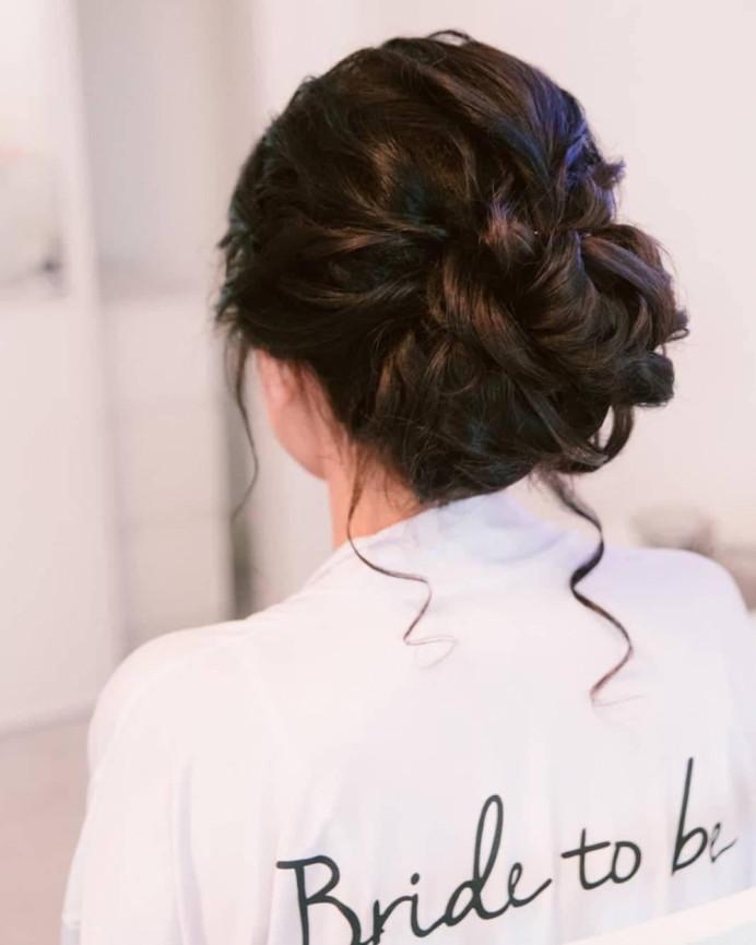 Textured low bridal bun - Make Me Bridal Artist: Hairbydanielle. #bridalhair #lowbun