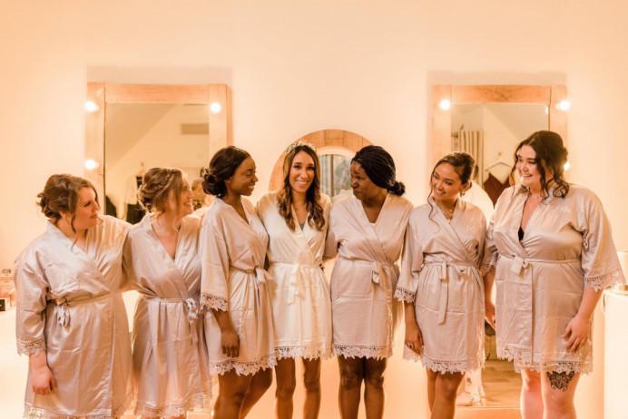 Bridal party hair up - Make Me Bridal Artist: Hairbydanielle. #bridesmaidhair