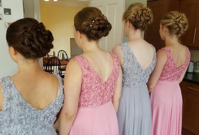 Bridesmaid hair up - Make Me Bridal Artist: Hairbydanielle. #bridesmaidhair