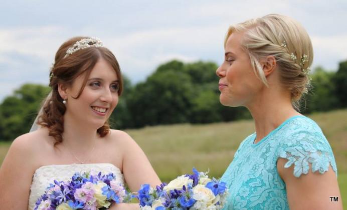 Bride & Maid of Honour - Make Me Bridal Artist: Hairbydanielle. #halfuphair