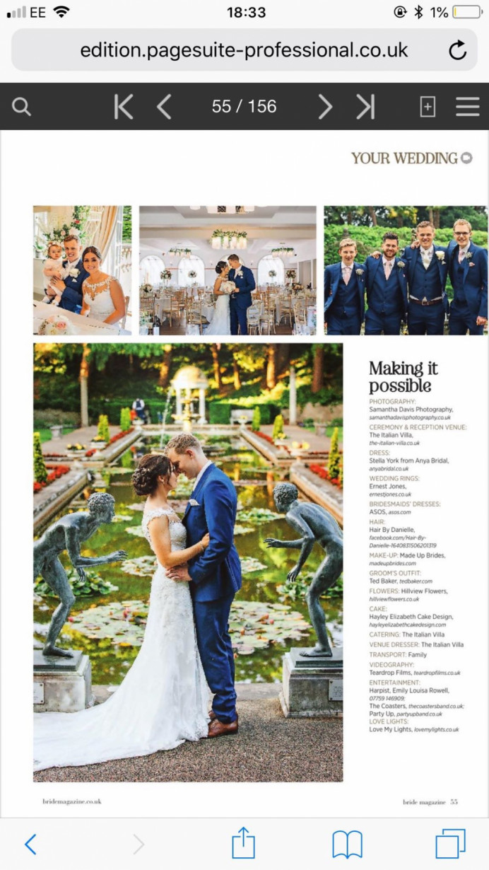 Bridal Hampshire Magazine, my lovely bride Emma, - Hair By Me - Make Me Bridal Artist: Hairbydanielle. #featured