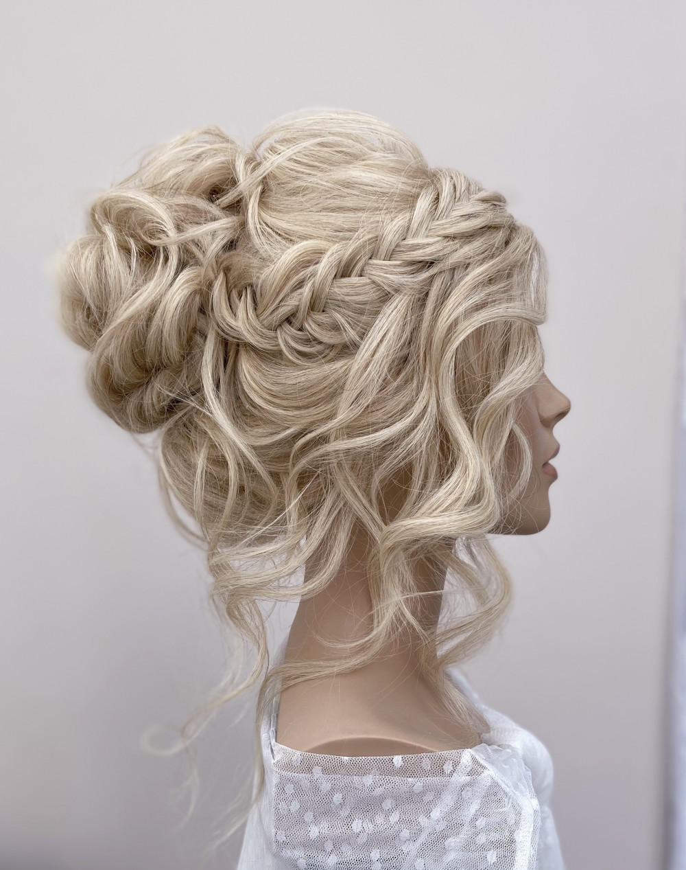 - Make Me Bridal Artist: Bridal hair by Michelle Jewess. Photography by: Michelle. #glamorous #curls #blonde #updo #weddinghair #texturedupdo #texturedupdo
