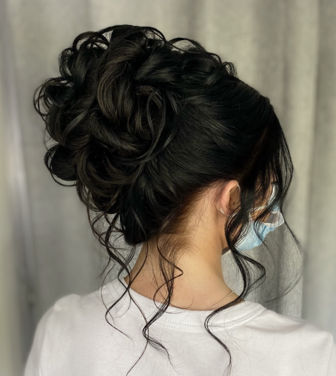 - Make Me Bridal Artist: Bridal hair by Michelle Jewess. Photography by: Michelle. #glamorous #curls #updo