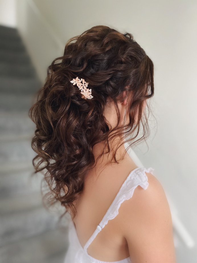 - Make Me Bridal Artist: Bridal hair by Michelle Jewess. Photography by: Michelle. #bohemian #curls #updo