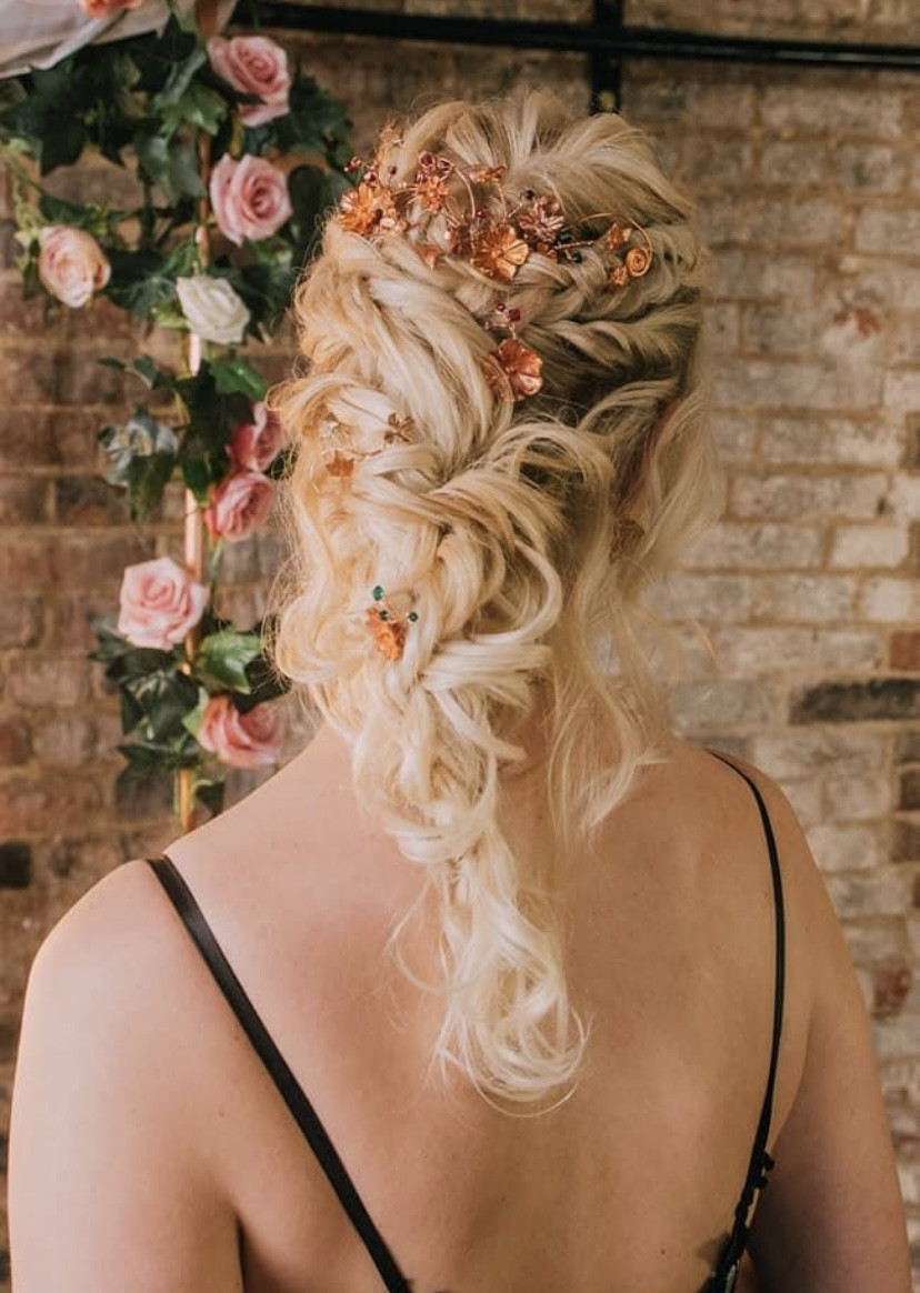 - Make Me Bridal Artist: Bridal hair by Michelle Jewess. Photography by: Michelle. #bohemian