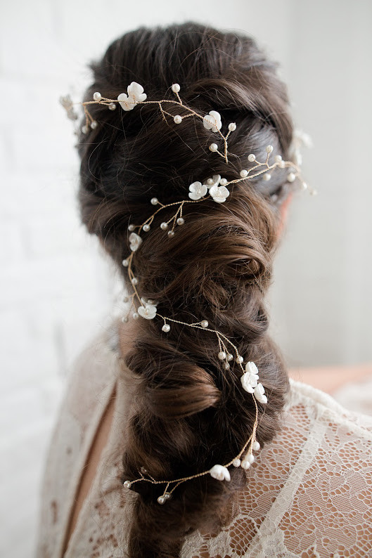 Bridal braid - Make Me Bridal Artist: Hair Creations By Colette. #braid #mermaidbraid #bohemian #boho #brunette
