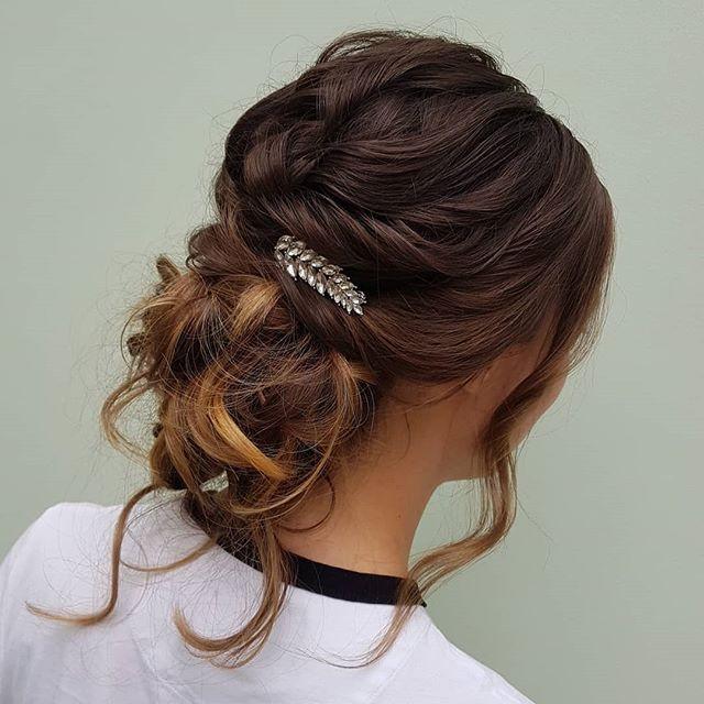 Low bun - Make Me Bridal Artist: Hair Creations By Colette. #bridalhair #messybun #lowbun #texturedup