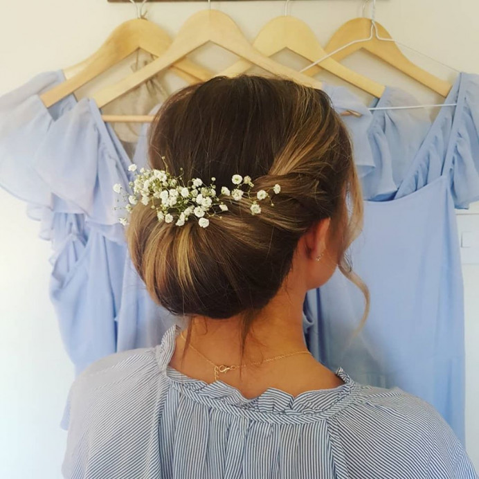 Bridesmaid - Make Me Bridal Artist: Hair Creations By Colette. #bridesmaid #bridesmaidhair #chignon