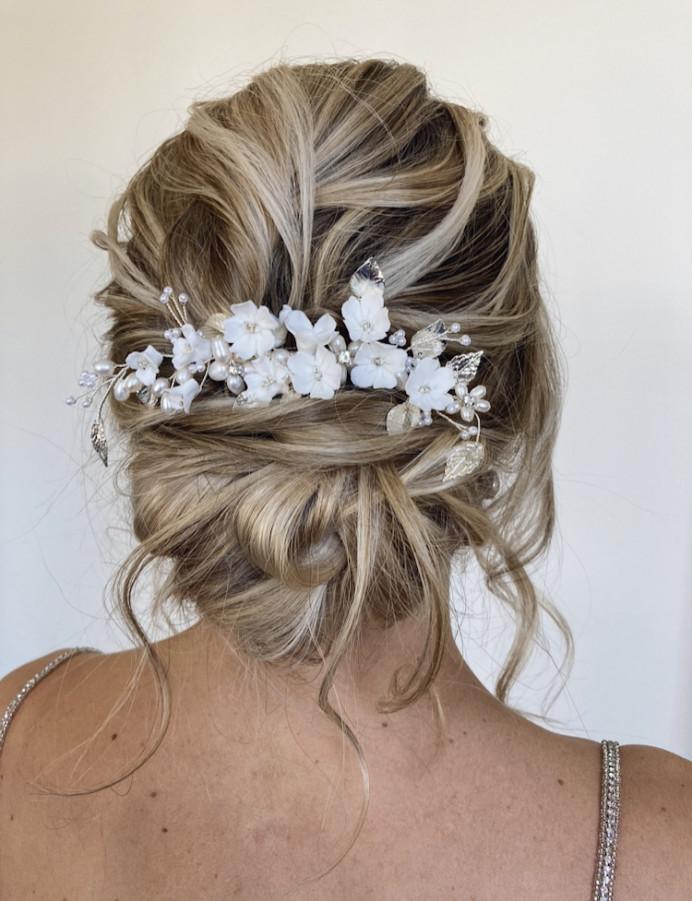 - Make Me Bridal Artist: Hair Creations By Colette. #updo #blondebride #texturedupdo