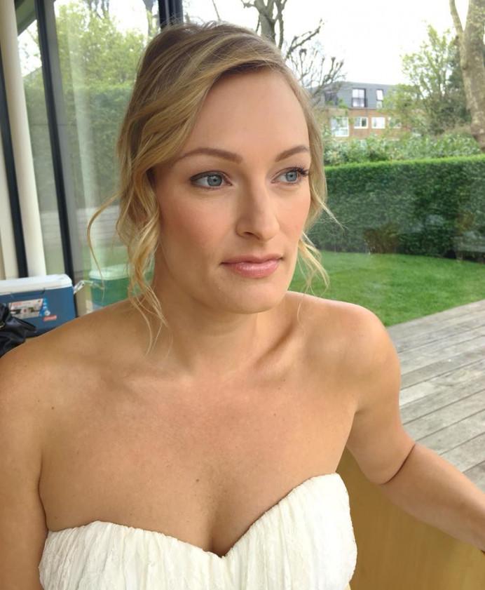 Bridal makeup and hair on a Bridal shoot for a Wedding designer - Make Me Bridal Artist: Katrina Flavell . #bridalmakeup #bridalhair