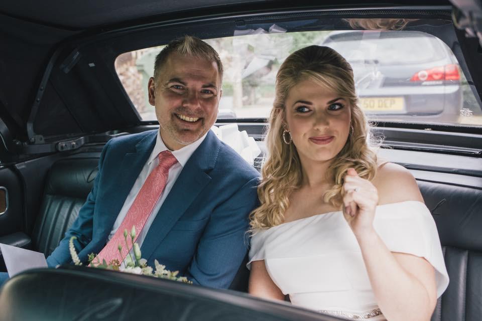 Blushing bride Kirby on her way to the church - Make Me Bridal Artist: Katrina Flavell . #bridalmakeup #bridalhair