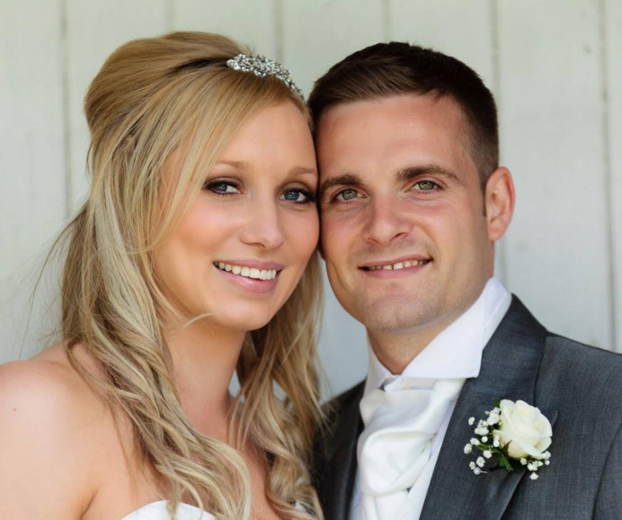 Gorgeous bride Abbie and her new husband - Make Me Bridal Artist: Katrina Flavell . #bridalmakeup #bridalhair