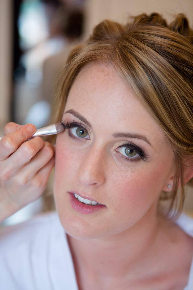 Eye touch ups for this beautiful bride. Just lips to go and a few final special finishing touches - Make Me Bridal Artist: Katrina Flavell . #bridalmakeup #makeup