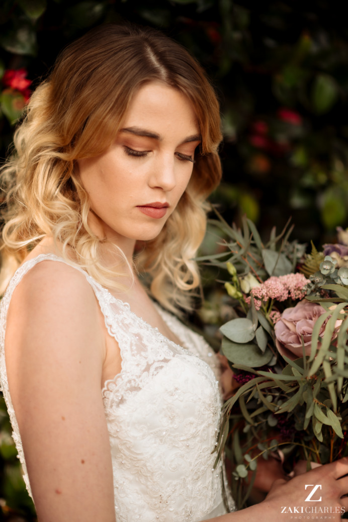 Relaxed boho loose bridal hair and soft natural makeup by Abigail M - Make Me Bridal Artist: Abigail M Makeup Artistry. Photography by: Zaki Charles. #bohemian #naturalmakeup #weddinghairandmakeup #bohobride #bridalmakeup #bride #boho #bohohair #hairdown #crueltyfreebride #cruetlyfreemakeup #luxurywedding #luxurymakeup