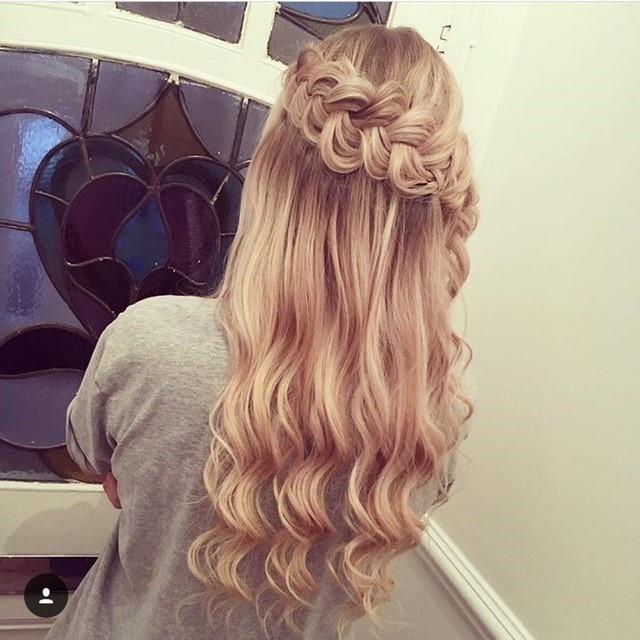 - Make Me Bridal Artist: Hair By Natalie UK. #boho #halfuphair #bridalhair #braid #bridesmaidhair #braidedupdo #halfuphalfdown