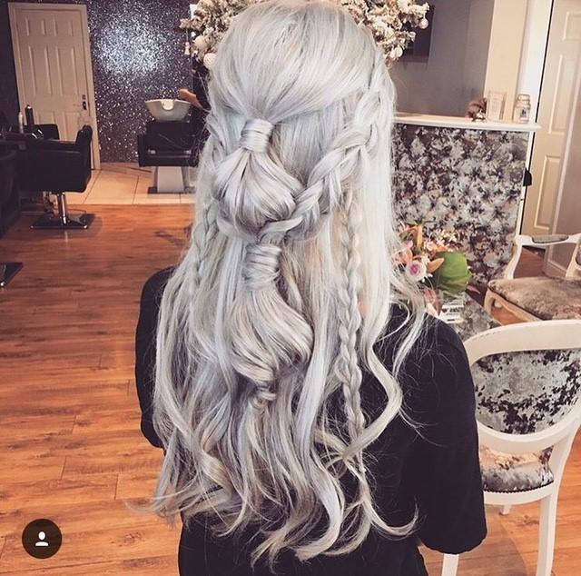 - Make Me Bridal Artist: Hair By Natalie UK. #bridesmaidhair #braids #hairhalfup #creative #bold