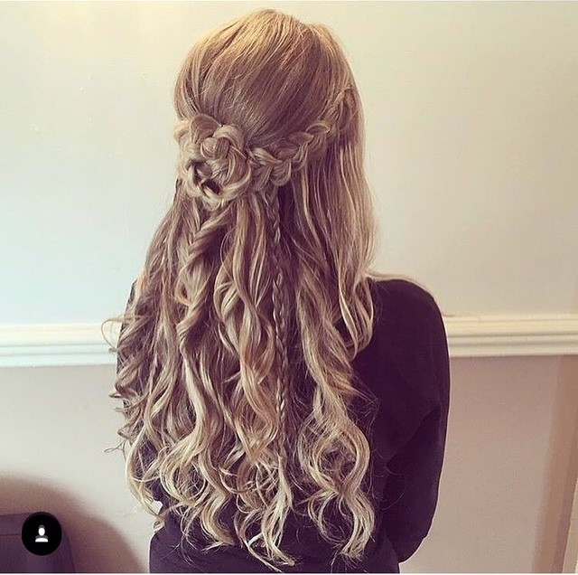 - Make Me Bridal Artist: Hair By Natalie UK. #glamorous #boho #halfuphair #bridesmaidhair #creative #bohobride