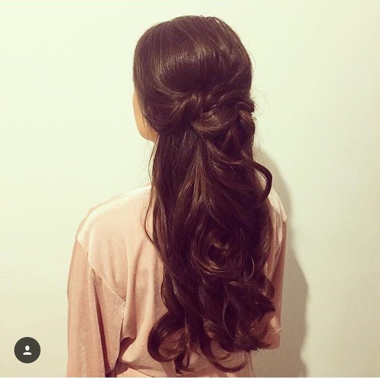 - Make Me Bridal Artist: Hair By Natalie UK. #bridesmaidhair #bridesmaidhair #halfuphair #halfuphalfdown #hairhalfup