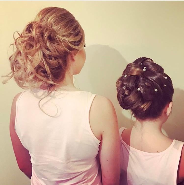- Make Me Bridal Artist: Hair By Natalie UK. #updo #relaxedupdo #romantichairup #bridesmaidhair #bridesmaid #flowergirls #flowergirl