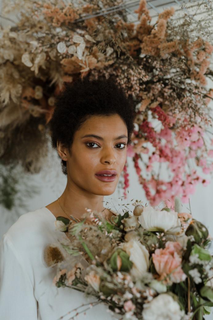Vanessa wearing Bon Bride - Make Me Bridal Artist: Mels Brides. Photography by: Stephanie Green. #fresh #modernbride #softglammakeup