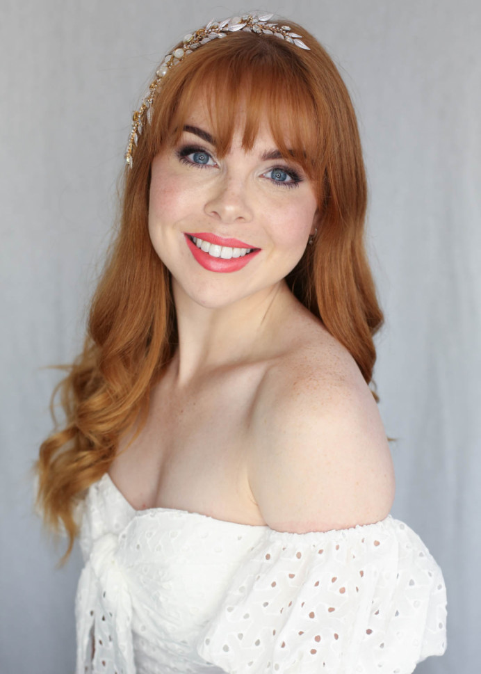 - Make Me Bridal Artist: Jennifer Fogerty Hair and Makeup. Photography by: Kristina Gasparas. #naturalmakeup #bridalmakeup #redhead #naturalbridal #softmakeup