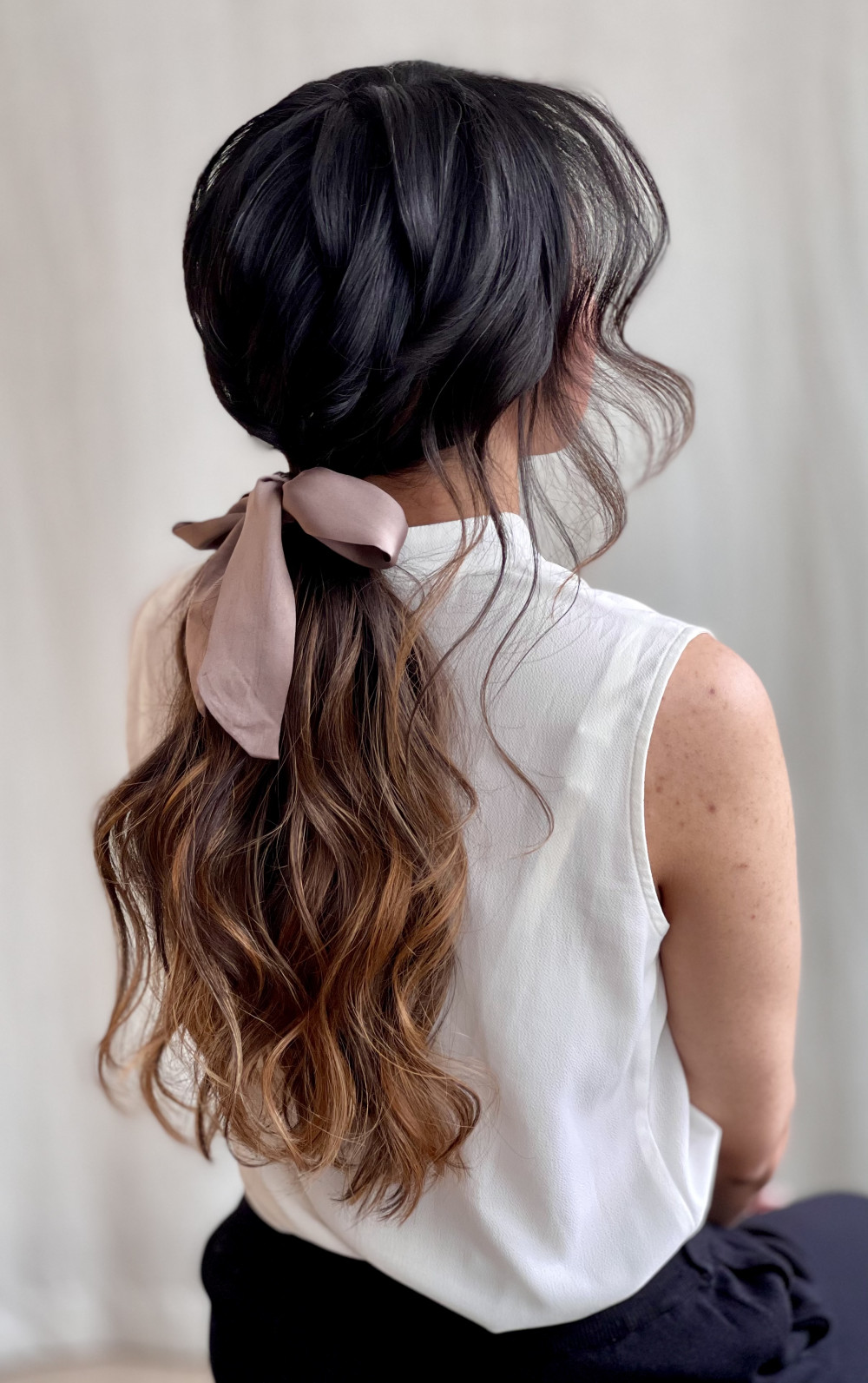 - Make Me Bridal Artist: Jennifer Fogerty Hair and Makeup. #halfuphair #ponytail #bridalpony