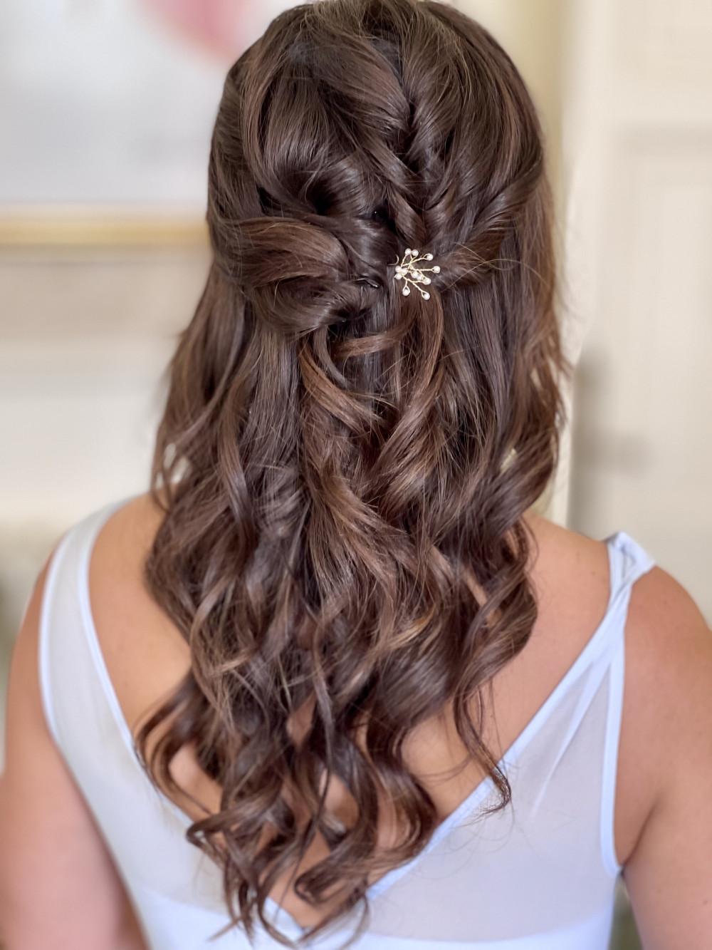 - Make Me Bridal Artist: Jennifer Fogerty Hair and Makeup. #halfuphair